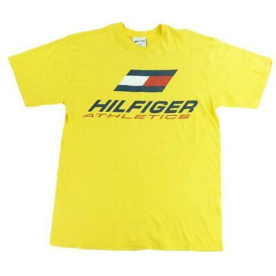 90s 'RARE' Tommy Hilfiger Athletics Spell Out T-Shirt - M