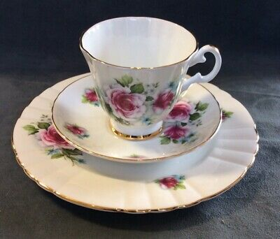 3 Piece Luncheon Set Royal Grafton Fine Bone China Cup Saucer Plate England