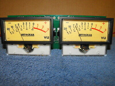 Pair Sifam AL39 VU Panel Meters from Autogram Pacemaker PM-228 Console WORKS!