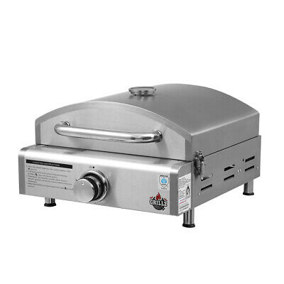 Grillz Portable Gas Oven Camping Cooking LPG Grill Pizza Stove Stainless Steel