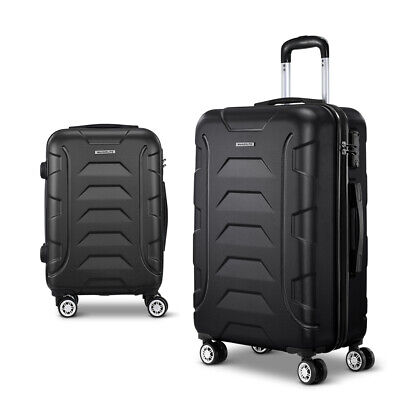 Wanderlite 2PCS Carry On Luggage Sets Suitcase TSA Travel Hard Case Lightweight