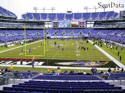 Baltimore Ravens Pittsburgh Steelers Tickets - Lower Level Aisle Seats! 12/29/19