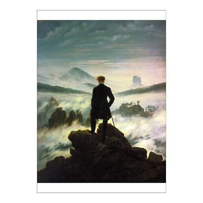 A2 (59x42cm) Poster of Wanderer Above the Sea of Fog from