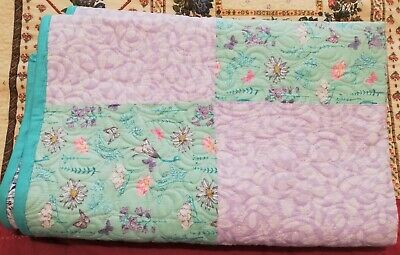 Quilt Handmade Machine Quilted Childs, Baby, throw cover.