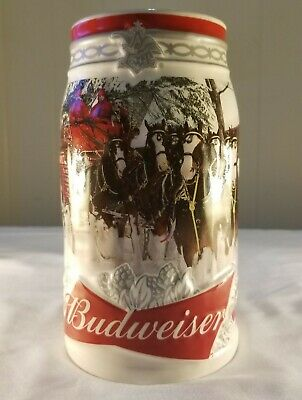 Rare 2017 Budweiser Holiday Stein Christmas Beer Mug Annual series 38th annual