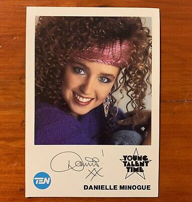 Danielle Minogue Dannii Young Talent Time YTT TV Fan Card XFactor Kylie 1980s