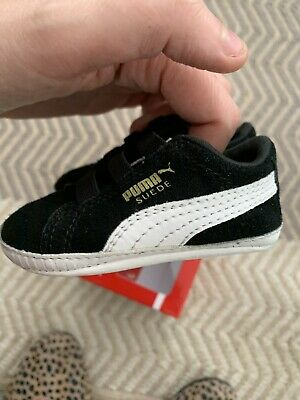 Puma Suede Classic Crib Black Shoes 2C
