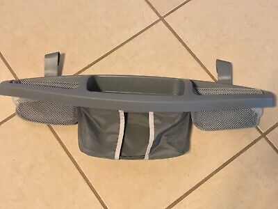 Graco Pack Play Playard Replacement Clip On Diaper Wipes Organizer Grey EUC