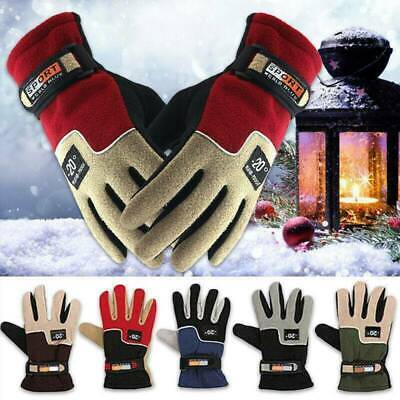 Mens Womens Winter Warm Windproof Waterproof Fleece Lined Thermal Gloves Mittens
