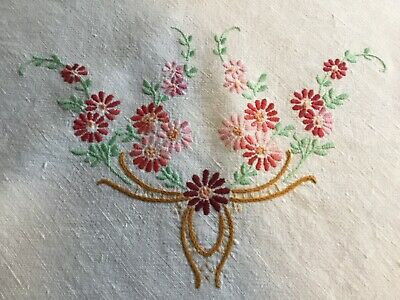 Vintage Hand Embroidered Suppercloth