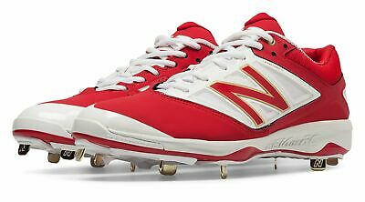 New Balance Low-Cut 4040v3 Metal Baseball Cleat Mens Shoes Red with White Size