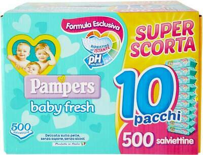 500 Serviette Pampers Baby Fresh Cleaning Child Little Girl Soft without Alcohol