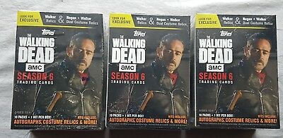 3x Topps The Walking Dead Temporada 6 Trading Cards Blaster Box 2017 Oferta