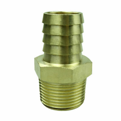 """Brass Hose Tail Barb Fitting Male Connector For Hose ID 1"""" X 1"""" NPT"""