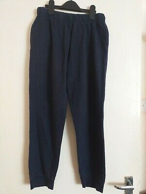Childrens Jogging Bottoms Navy Blue Age 14