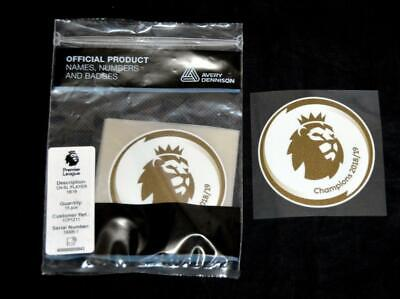 Official Premier League Champions 2019/20 Football Shirt Patch Player Size