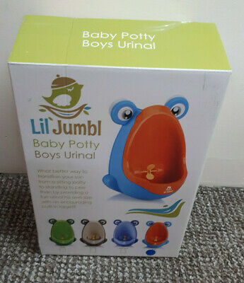 Lil' Jumbl Toddler Urinal Wheel Spin potty trainer in blue