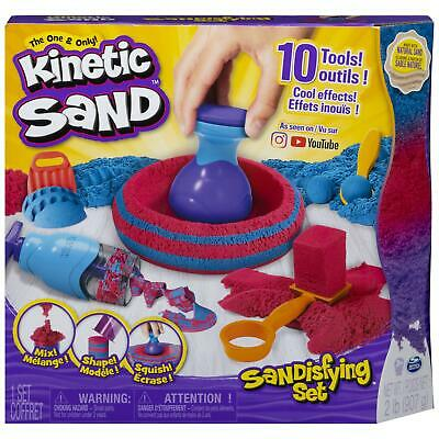 Kinetic Sand, Sandisfying Set with 2lbs of Sand and 10 Tools, for Kids Aged 3