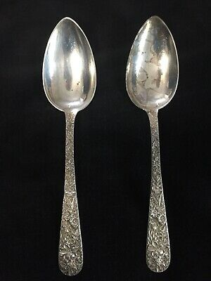 S. Kirk & Son Repousse Pattern Sterling Silver Large Serving Spoon 2 available