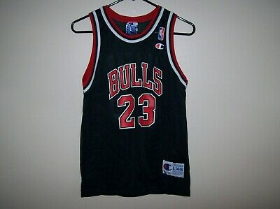 Michael Jordan Chicago Bulls #23 Champion Jersey-Youth size L 14-16