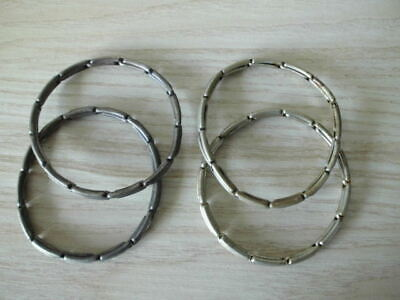 FOUR x VINTAGE EXPANDABLE SPRUNG LINK SLEEVE GARTERS ARMBANDS HOLDERS - 2 PAIRS