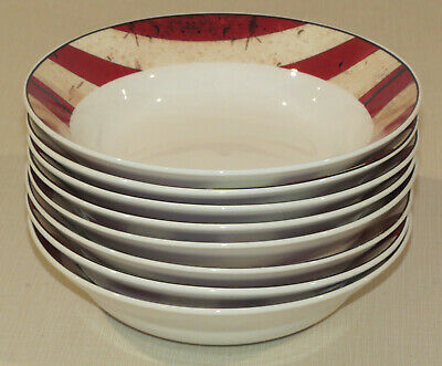 Set of 8 Soup, Salad or Cereal Bowls 1997 Colonial by Warren Kimble