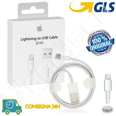 Cavo Dati Lightning Apple Originale Iphone 2 Metri 6 6S 7 8 X Ipad Md819Zm/A 2Mt