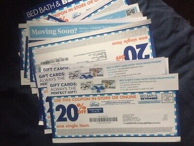 LOT OF 15 Bed Bath & Beyond 20% OFF ENTIRE Purchase Online/In-Store