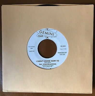 Northern Soul-The Constellations-I Didn't No How To- Gemini Demo