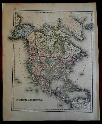North America United States 1877 O.W. Gray map w/ Comparison world lakes Islands
