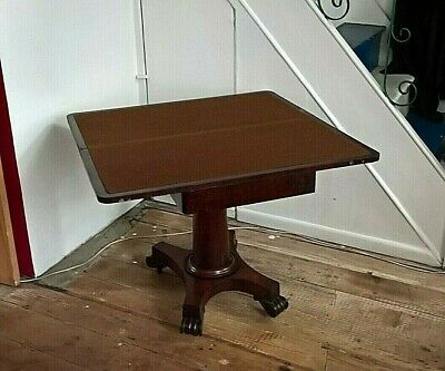 Georgian Mahogany and Oak Folding Card Table.