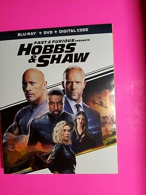 Fast & Furious Presents Hobbs & Shaw (Blu-ray and DVd+ DigitalW/slicover