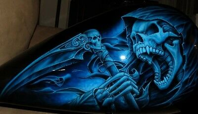 EURO 7 STAGE MULTILAYER STEP BY STEP AIRBRUSH SKULL STENCIL TEMPLATE A4 set siz