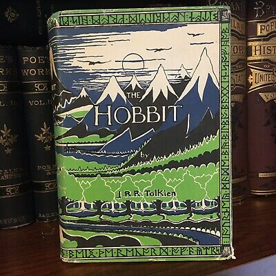 1966 The Hobbit There & Back Again JRR Tolkien 1st US/36th Printing Dust Jacket