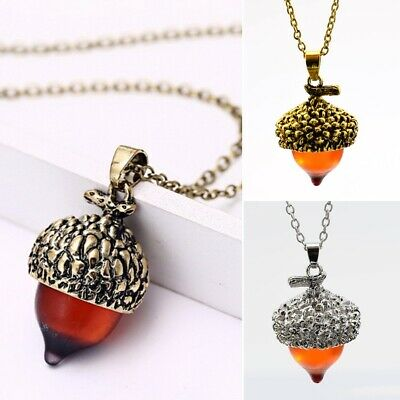 Vintage Bronze Pine Nut Long Sweater Chain Pendant Necklace Winter Jewelry Gift