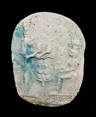 Egyptian Antique Beautiful Isis Hathor Goddess Relief Wall Plaque Stela Stone