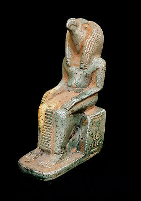 Ancient Egyptian Civilization Antique Statuette Ibis Thoth God Of Wisdom Statue