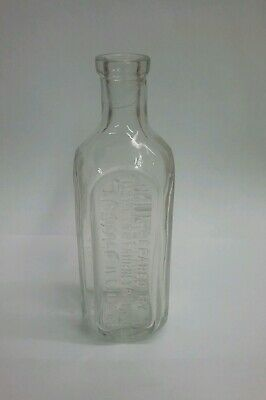 Vintage Dr Peter Fahrney & Sons Chicago Illinois Apothecary Tonic Elixir Bottle
