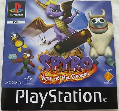 Spyro Year Of The Dragon Manual Only PS1 Black Label