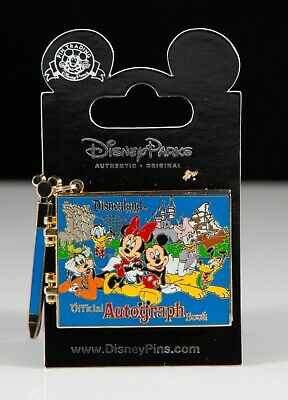 New 2011 Disneyland Resort Blue Autograph Book Hinged Pin