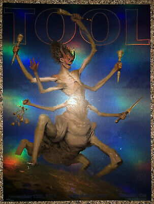 Tool Poster Toronto Day 2 Scotiabank 2019 concert tour limited holographic