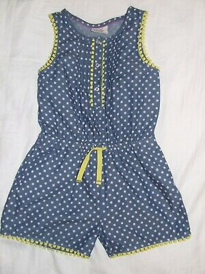 Girls Mini Boden blue spotty shorts set age 4-5 years Excellent condition!