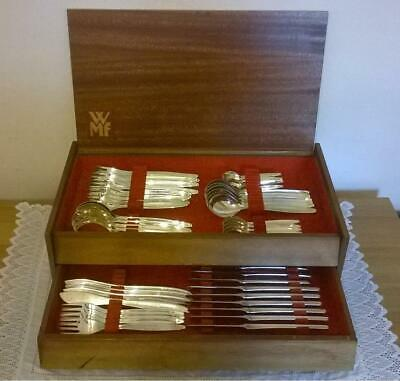 Vintage WMF Wooden Canteen of Silver Plated Cutlery (56 pieces)