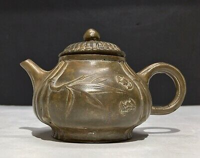 Antique Chinese Ming Dynasty Bronze Pumpkin Rare Xuande Teapot 15th Century
