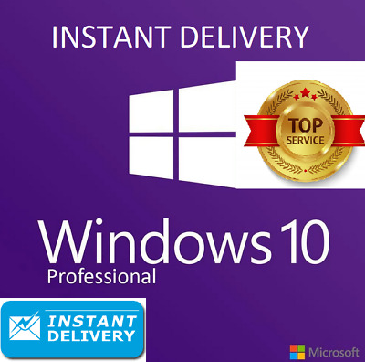 Microsoft Windows 10 Pro Professional 32/64bit Genuine License Key Instant 7s