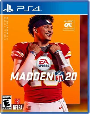PS4 Playstation 4 MADDEN 20 NFL Fooftball Video Game Brand New Sealed Rated E