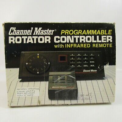 Vintage Channel Master Programmable Rotator Controller with Remote Control 9535