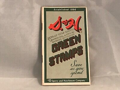S&H Green Stamp Book - The Sperry and Hutchinson Company - 1959-1960 Vintage