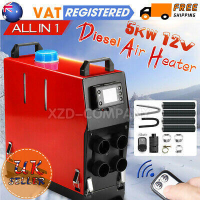5KW 12V Air Diesel Heater 4 Holes LCD Monitor For Trucks Boats Car-UK Clearance!