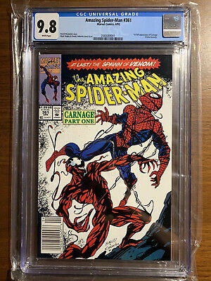 Cgc 9.8 The Amazing Spider-Man # 361 (1992) Newsstand 1St App Carnage